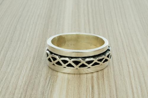 anel giratório (lb11,7) prata 950 aro 30
