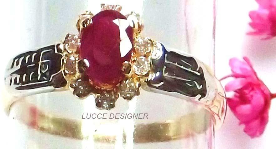 anel grau formatura ouro 18k, rubi natural diamantes direito. Carregando  zoom. 185c6bd0d0