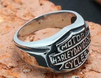 anel harley davidson - aço inox  - tamanho 26