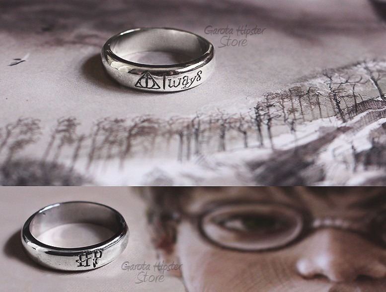de8b18c69 Anel Harry Potter Always Relíquias Da Morte Dupla Face - R$ 35,00 em ...