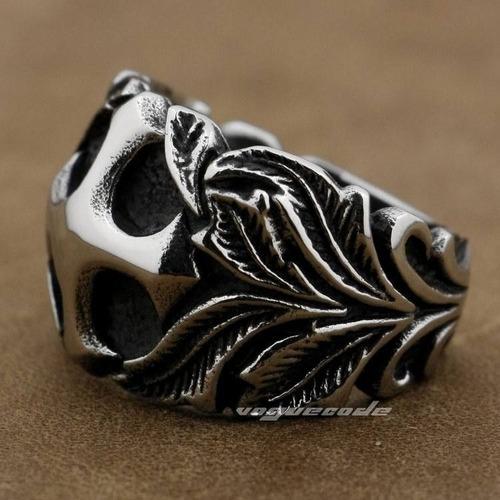 anel hige cross flower biker,skull,rock aro 30 (22.4 mm)