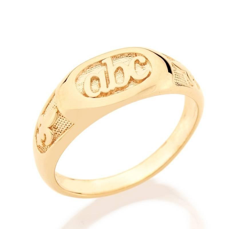 87f16ee4d90 anel infantil abc formatura rommanel folh a ouro 18k 510600. Carregando  zoom.