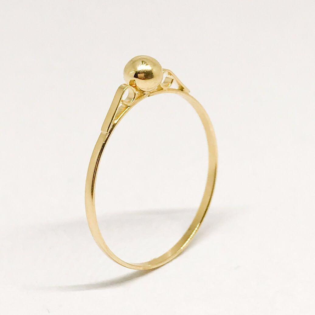 311621aa6ff8e anel infantil bolinha ouro 18k linha jóia menina criança. Carregando zoom.