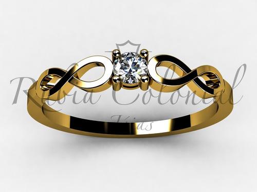 anel infinito ouro