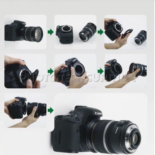anel inversor para canon 62mm macro fotografia nfe eos-62mm