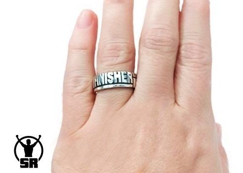 anel ironman finisher - prata 925