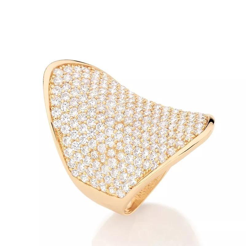 4f36243c981 Anel Largo 213 Zircônias Brilho Diamante Rommanel 511517 - R  386