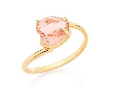 anel liso cristal 8mm coração  rommanel 511598