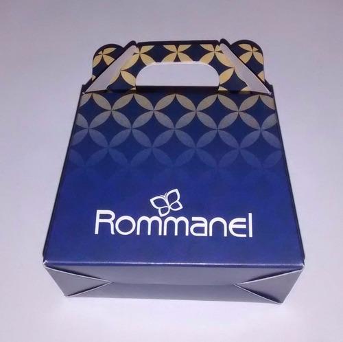 anel liso quadrados vazados ouro rhodium rommanel 510002
