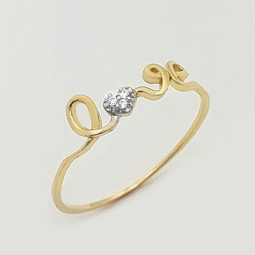 anel love vazado ouro 18k
