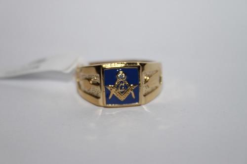 anel maçom fundo azul -  leve 01 pin brinde