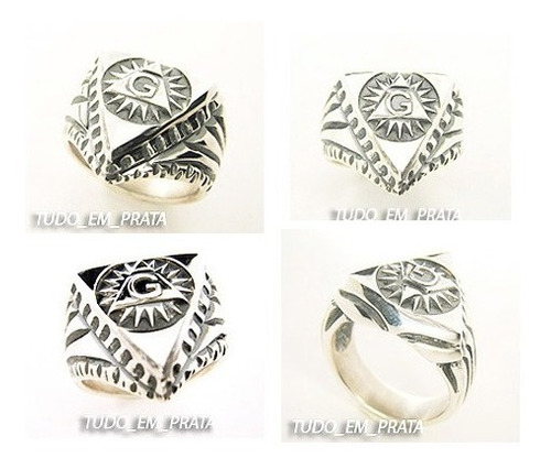 anel maçom maçonaria triângulo luminoso, delta, pirâmide, g