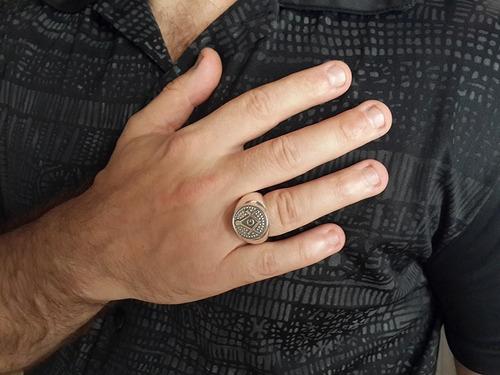 anel maçom/maçonaria esquadro compasso em prata maciço