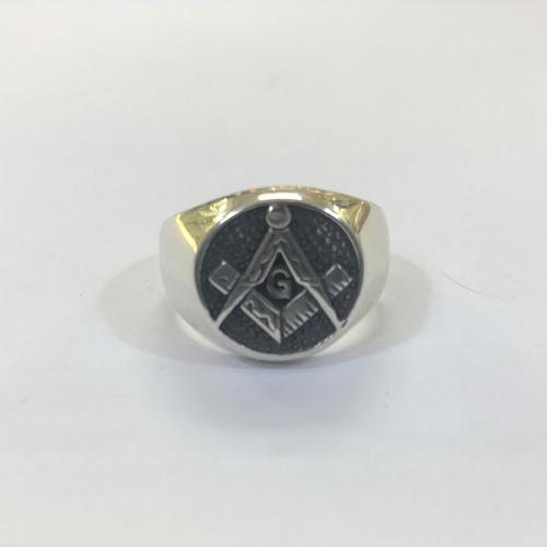 anel maçon prata masculino