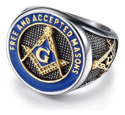 anel maçonaria maçom aço inox 316l real  qualidade  - top