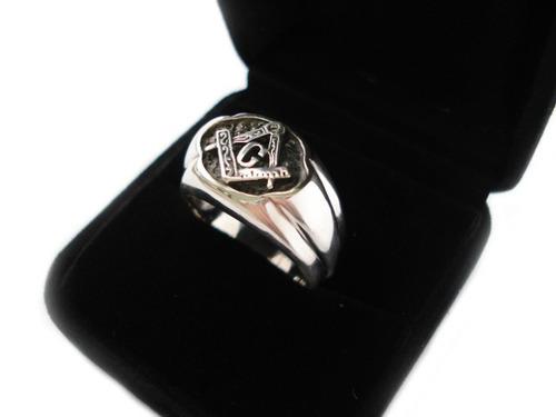 anel maçonaria masculino prata