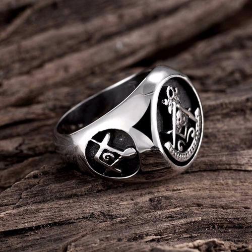 anel maçonaria masson masculino - lançamento pronta entrega