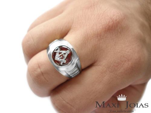 anel maçonaria prata masculino