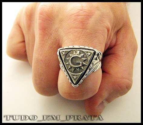 anel maçon/maçonaria acácia delta, sol e letra g
