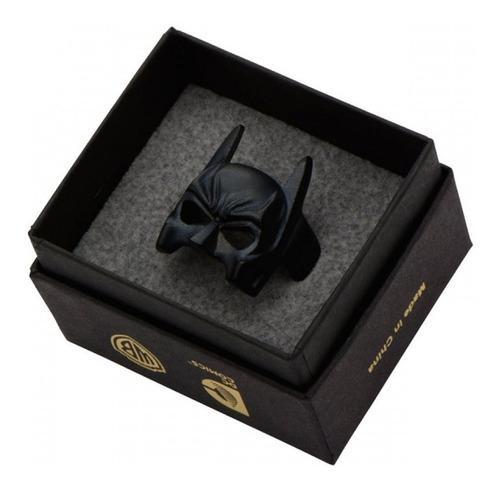 anel máscara batman original dc comics em inox na caixa dc