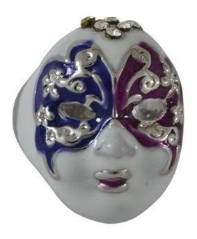 anel máscara veneza azul/vinho