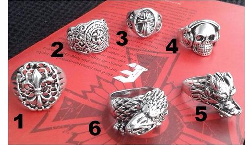 anel masculino aço inox 316 l - vários modelos aros 26 e 27