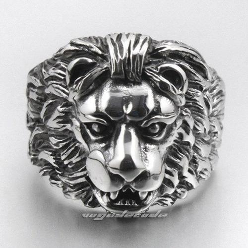 anel masculino aço inox leão maçonaria punk lxbr a08