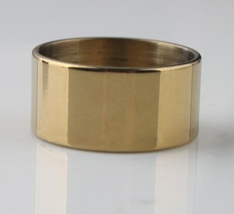anel masculino aro 28 aço inox largo dourado cor ouro j1927c