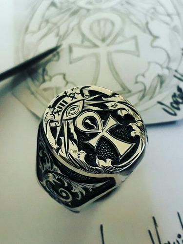 anel masculino artistico maçonaria prata 925 lord luxury