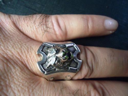 anel masculino brasão leão prata maciça 925 - animal