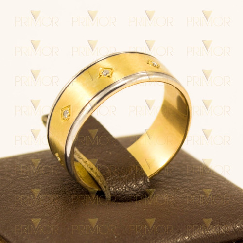 anel masculino de ouro amarelo crucifixo e ouro branco an051