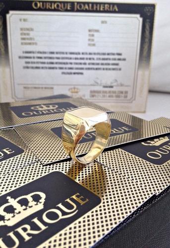 anel masculino em ouro 18k 750 moderno promoção 12x s/ juros