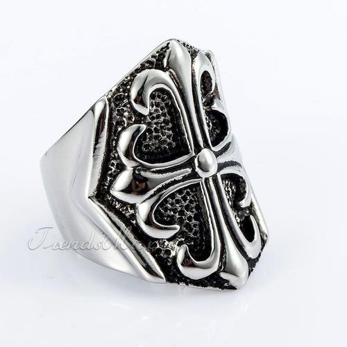 anel masculino  escudo medieval,aço inox,aro 30 (23.mm)