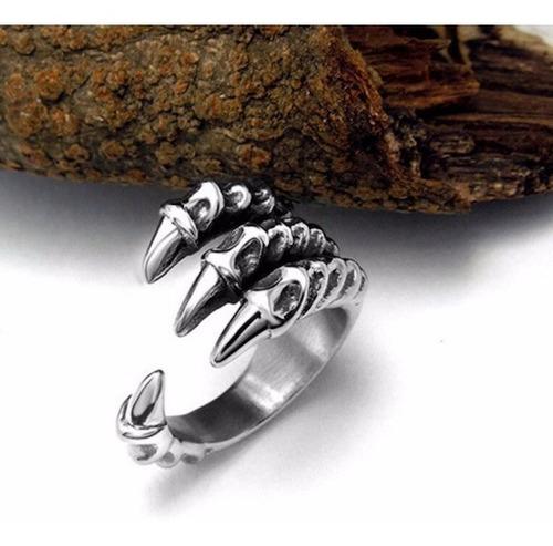 anel masculino garras de águia ajustável aço  pronta entrega
