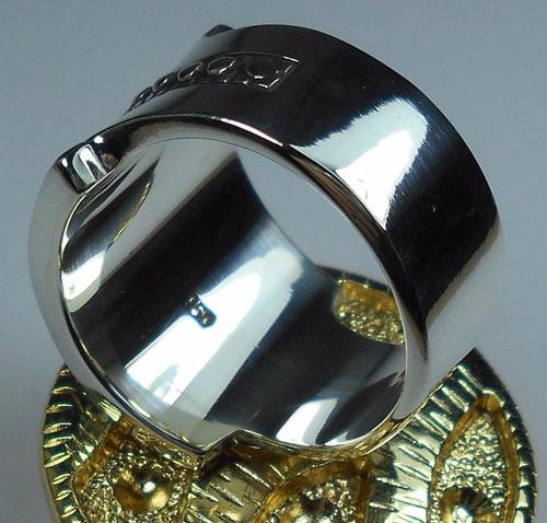 anel masculino macom maçonaria grande prata 950 frete gratis
