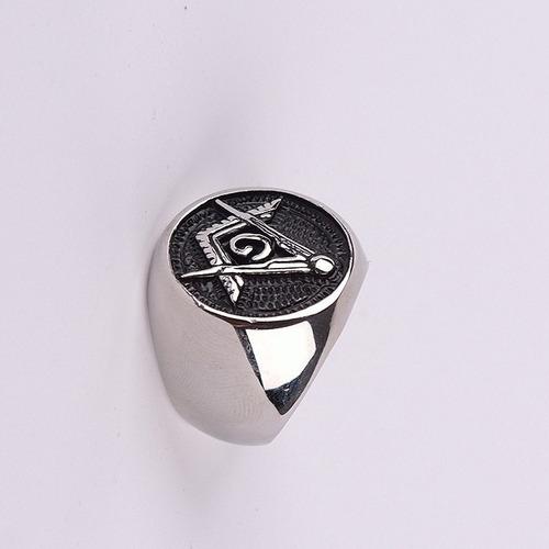 anel  masculino maçonaria aço maçom maçônico
