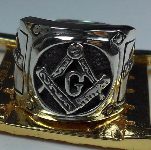 anel masculino maçonaria prata