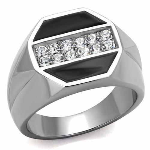 anel masculino onix zirconias aço inoxidável luxo