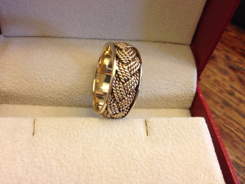 anel masculino ouro sólido14k tipo aliança. design único