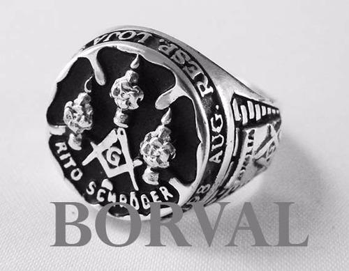 anel masculino prata