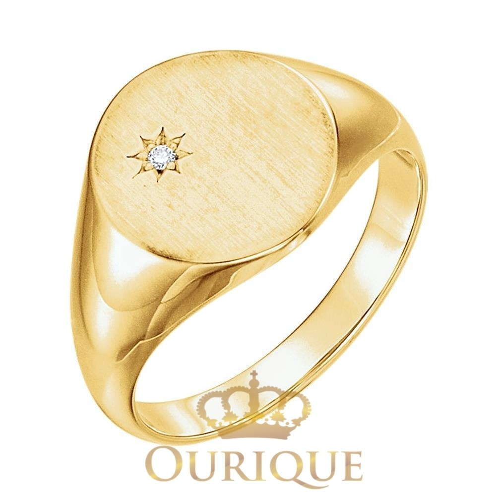 55f2bcfd05b74 anel masculino redondo  quadrado ouro 18k 750 com diamante. Carregando zoom.