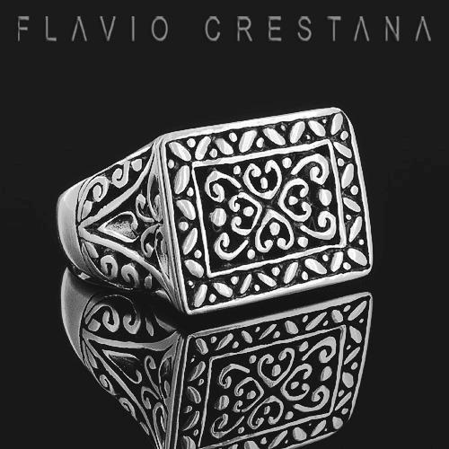 anel masculino retangular, vazado com forro, prata 925. fabr