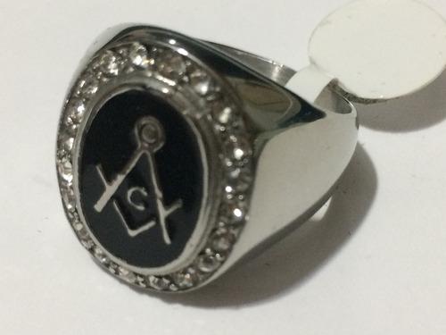 anel masculino simbolo da maçonaria,aço inox, aro 30 (23 mm)