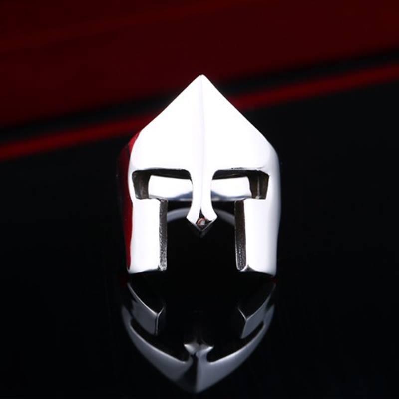 anel masculino titânio escovadocapacete spartacus gladiador. Carregando  zoom. 2540d43806