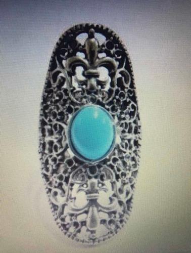 anel maxi flor de lis mandala