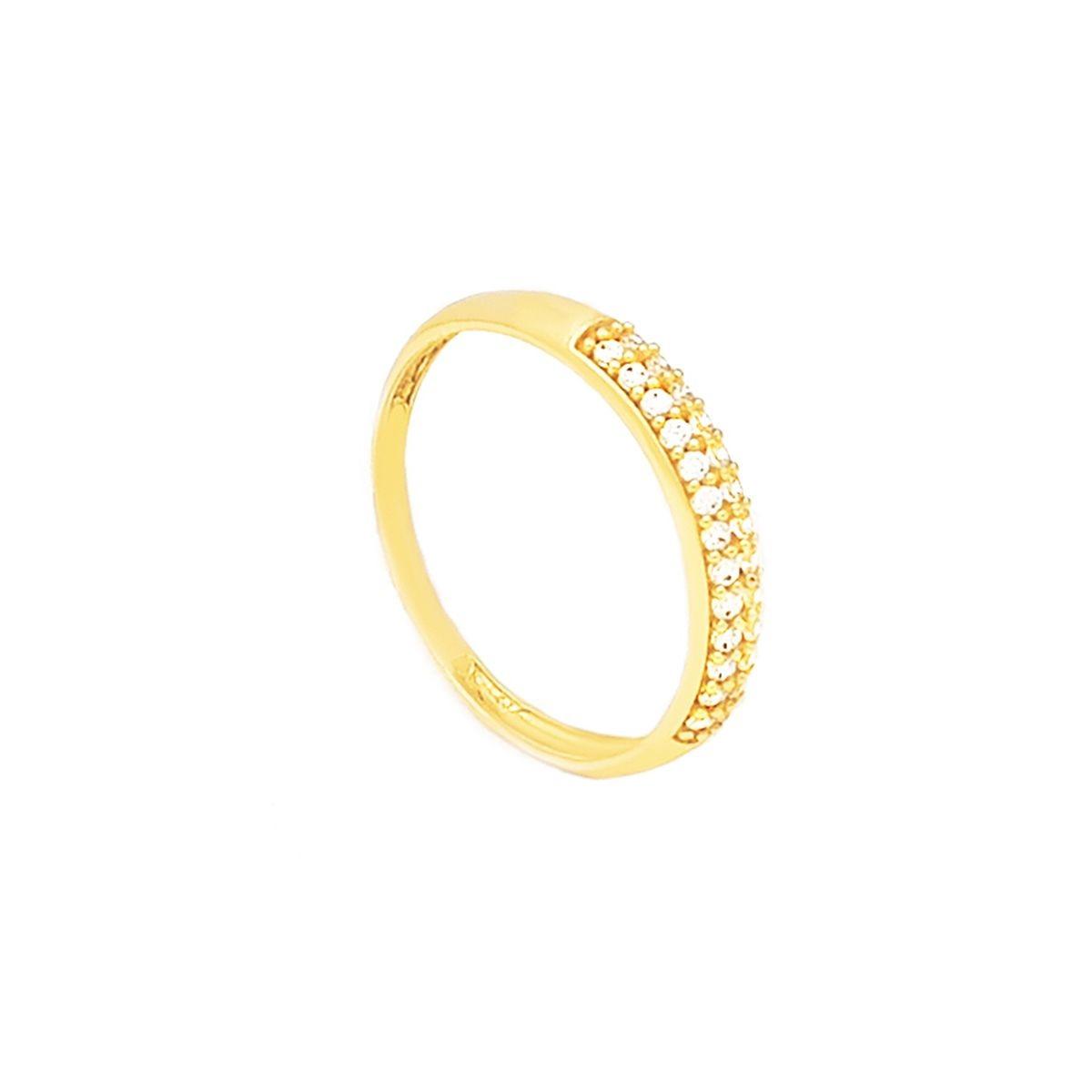 1cd7f1ae2cf84 anel meia aliança e aparador em ouro 18k zircônia branca. Carregando zoom.