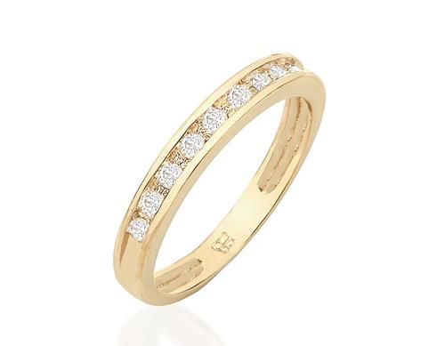 anel meia aliança folheado ouro aparador 511125 rommanel