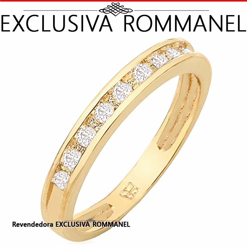 Anel Meia Aliança Folheado Ouro Aparador Rommanel 511125 R$ 126,00 em Mercado Livre