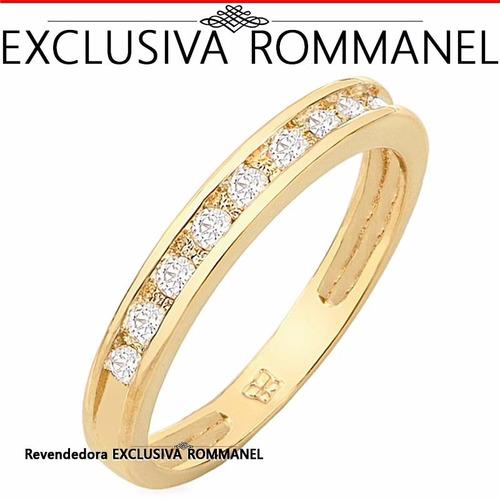Armario Para Banheiro De Vidro ~ Anel Meia Aliança Folheado Ouro Aparador Rommanel 511125 R$ 122,00 em Mercado Livre