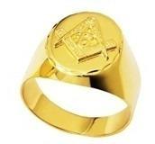 anel mestre ouro 18k trabalhado emblema maçonaria maçon mest